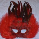 Red Feather Glow Masquerade Costume Ball Prom Mask