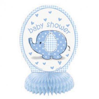 Umbrella Elephant Blue Boy Baby Shower Party Supplies 4 Centerpieces Honeycomb
