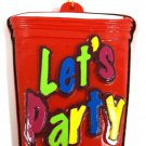 Let's Party Cup Mardi Gras New Orleans Necklace Beads Bead