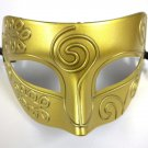 Bright Gold Roman Greek Men Venetian Mardi Gras Party Masquerade Mask