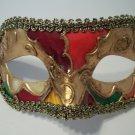 Titan Gold Red Orange Small Venetian Mardi Gras Masquerade Mask Prom Men Boy