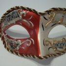 Copper White Vintage Musica Venetian Small Mardi Gras Masquerade Mask