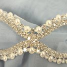Wedding Crystal Pearl Bridal Rhinestone Laser Cut Venetian Masquerade Metal Mask