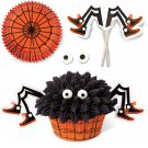 Wilton Spooky Spider 24 Cupcake Kit with Liners Picks Halloween Decorating Treat