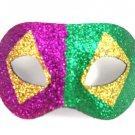 Purple Green Gold Glitter Diamond Wide Masquerade Mask Dance Ball Men