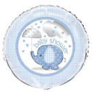 "Umbrella Elephant Blue Boy Baby Shower Party Supplies 1 18"" Mylar Foil Balloon"