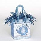 Umbrella Elephant Blue Boy Baby Shower Party Supplies Bag Balloon Weight