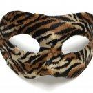 Tiger Stripe Velvet Masquerade Venetian Mardi Gras Ball Mask