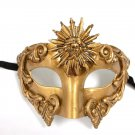 Golden Sun God Roman Warrior Greek Venetian Masquerade Mardi Gras Mens Mask