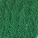 18 Dozen (216) Mardi Gras Beads St Patricks Day Green Necklaces Lot Party Favors