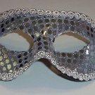 Silver Sequin Masquerade Party Value Mardi Gras Halloween Mask