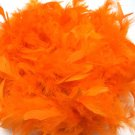 "Bright Orange Chandelle Feather Boa 72"" 6Ft 6 Ft Masquerade Costume Party 40 GM"
