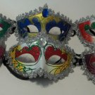 Venetian Oval Gem Mardi Gras Masquerade Mask assortment or choice of 6 colors