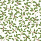 Christmas Holiday Green Holly Placemat Place Mat Paper 12 ct Party Supplies