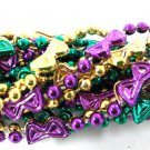 12 Tiny Masks (1 Dozen) Necklaces Purple Green Gold Mardi Gras Beads
