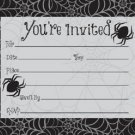 Halloween Dancing Skeletons Black Spider Webs Invitations 8 Ct Party Supplies