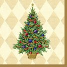 Christmas Spruced Up Gold Tree Luncheon Lunch Napkins 16 ct Party Supplies