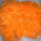 Bright Orange Tinsel Feather Boa 6Ft 6 ft Masquerade Costume Dress Up Chandelle