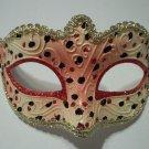 Pink Black Child Venetian Mask Masquerade Mardi Gras