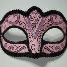 Light Pastel Pink Black Small Child Teen Adult Ornate Masquerade Mardi Gras Mask