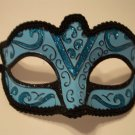 Turquoise Blue Black Small Child Teen Adult Ornate Masquerade Mardi Gras Mask