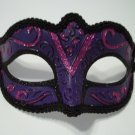 Dark Purple Black Small Child Teen Adult Ornate Masquerade Mardi Gras Mask