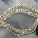 Wedding Crystal Chevron Bridal Rhinestone Laser Venetian Masquerade Metal Mask
