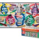New Years Eve Party Assortment Kit For 10 Americana 45 Pc Hats Tiaras Leis Horn