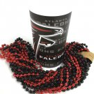 Atlanta Falcons 22 oz Cup 12 Mardi Gras Beads Black Red Party Supplies Favor