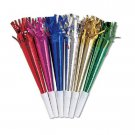 Horns w/ Fringe Assorted Colors Metallic Party Supplies 8 ct New Years Eve