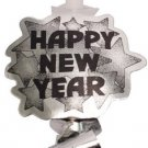 """Happy New Year"" Silver Metallic New Year Blowouts Party Supplies 6 ct"