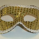 Gold Sequin Mardi Gras Masquerade Party Value Mask