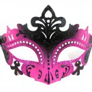 Sexy Black Hot Pink Laser Cut Mardi Gras Masquerade Mask Prom Dance