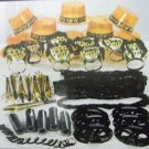 New Years Eve Party 25 Guest Gold Black Kit 105 Pc Hats Tiaras Lei Mask Horns
