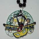 Mask Mardi Gras Bourbon Lamp Post New Orleans Necklace Beads Bead