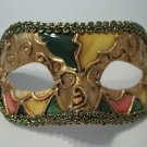 Titan Gold Yellow Green Small Venetian Mardi Gras Masquerade Mask Prom Men Boy