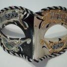 Black White Vintage Musica Venetian Scenes Small Mardi Gras Masquerade Mask