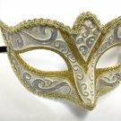 Cream Gold Silver Small Child Teen Ornate Masquerade Mardi Gras Mask Prom Dance