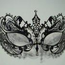 Black Crystal Beautiful Eyes Laser Cut Venetian Mask Masquerade Metal Filigree