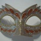 Orange Venetian Mask Masquerade Mardi Gras Cat Eye