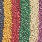 144 6 Bright Colors Mardi Gras Gra Beads Necklaces Party Favors Huge Lot (12 doz