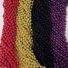 48 Ravens 49er's Purple Black Red Gold Mardi Gras Beads Superbowl Favor Tailgate