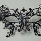 Butterfly Black Masquerade Mardi Gras Mask Venetian High Quality Metal FilIgree