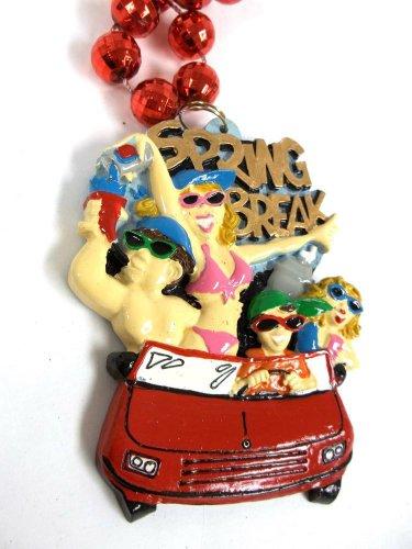 Spring Break Car Girls Beach Mardi Gras Bead Necklace