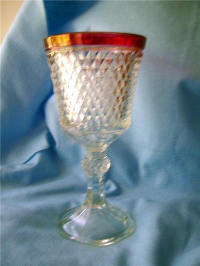 RARE Diamond Point Footed Urn/Giant Goblet/chalis