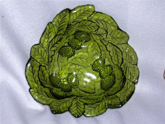 Indiana Glass Loganberry and Leaf Candy Dish/Bon Bon