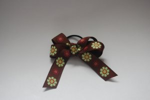 Autum flowers pony bow