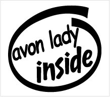 Avon Lady Inside Decal Sticker