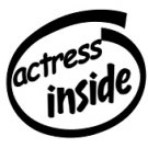 Actress Inside Decal Sticker
