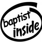 Baptist Inside Decal Sticker